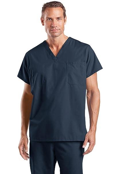1a33d0b83f4 Amazon.com: Cornerstone Reversible V-Neck Scrub Top (CS501) Navy - Medium:  Medical Scrubs Shirts: Clothing