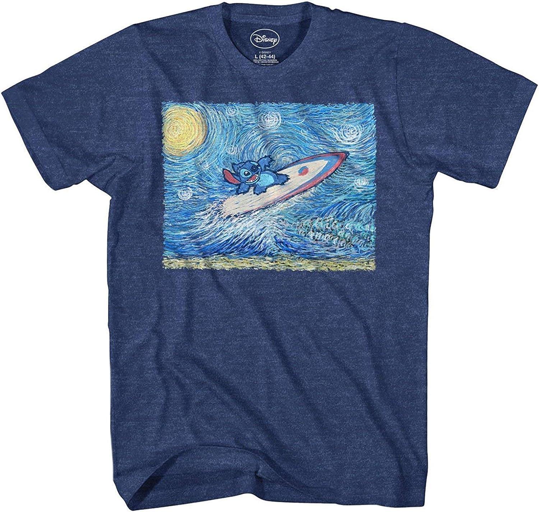 Disney Lilo and Stitch Starry Night Surfing T-Shirt