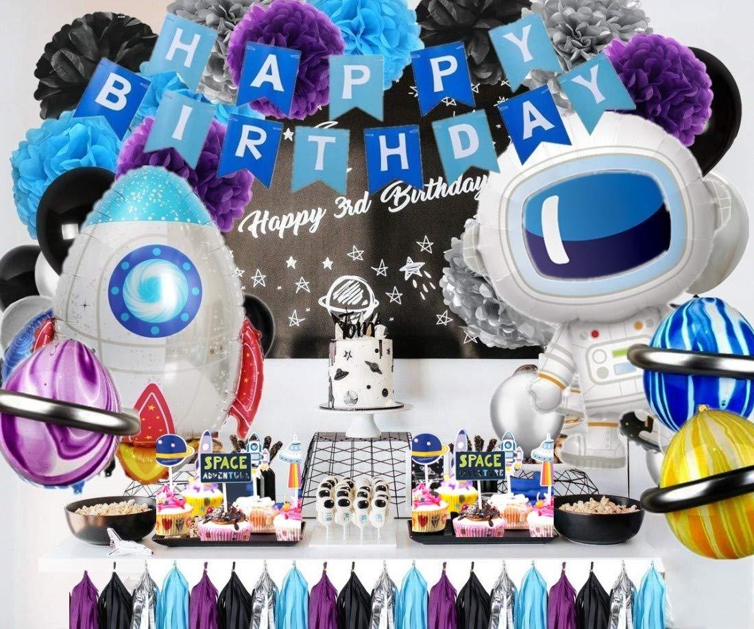 Globos de astronauta para fiestas de cumpleaños, aventura en ...