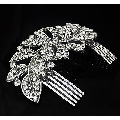 KHSKX-La Nouvelle Épouse De Feuilles Coiffure / Cheveux Arc Comb Diamant Enfant Comb Mariage De Bijoux Studio Accessoires /
