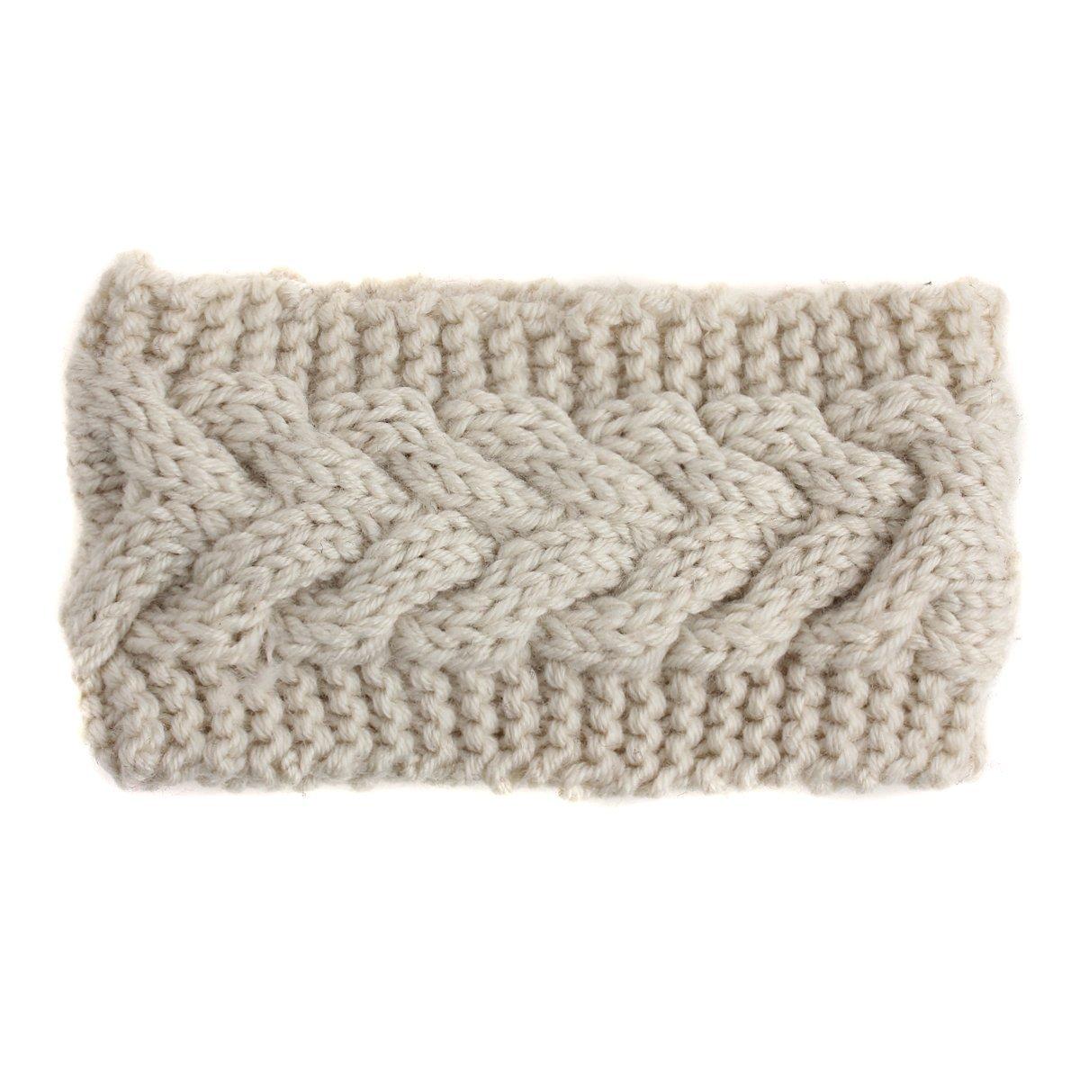 mujeres Twist Crochet punto Cinta tukis puertas Invierno Diadema ...
