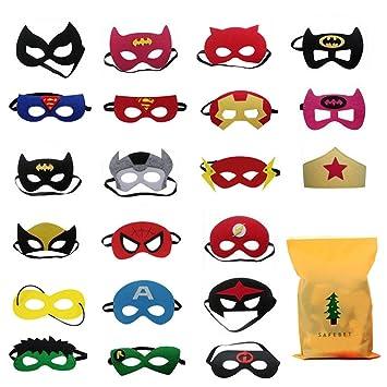 Diy House 45pcs Halloween Superhero Masks For Children Kids