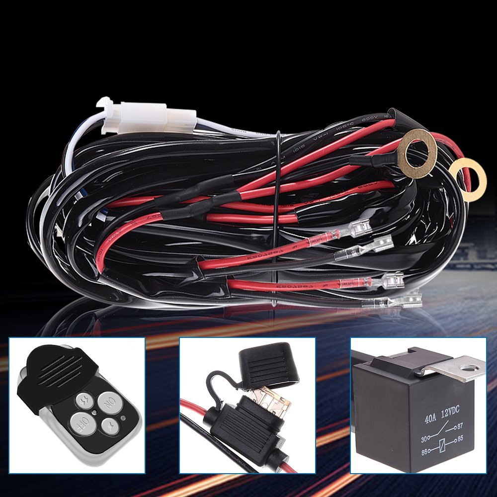 Wiring Kit 12ft Blade Fuse Relay With Remote Switch For Led Light Electrical Installation Durante Electric Inc Pa Bar Atv 2lead