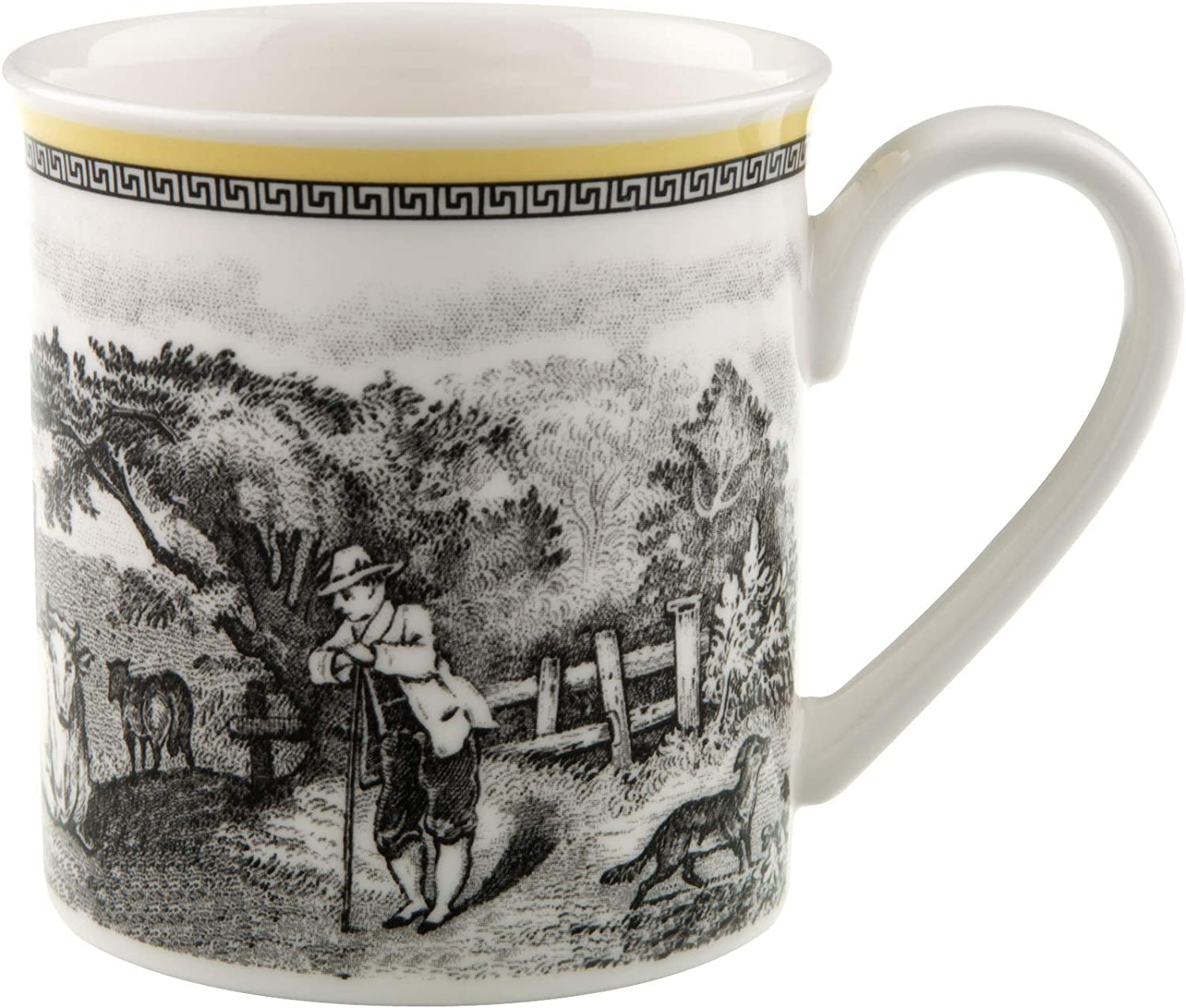 Audun Ferme Coffee Mug by Villeroy & Boch - Premium Porcelain - Made in Germany - Dishwasher and Microwave Safe - 10 Ounce Capacity