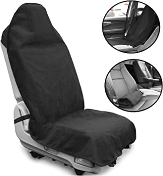 Running SUVs and Trucks Universal Fit Anti-Slip Bucket Seat Protector for Cars Swimming lebogner Waterproof Sweat Towel Car Seat Cover for Post Gym Workout Machine Washable Beach and Hiking