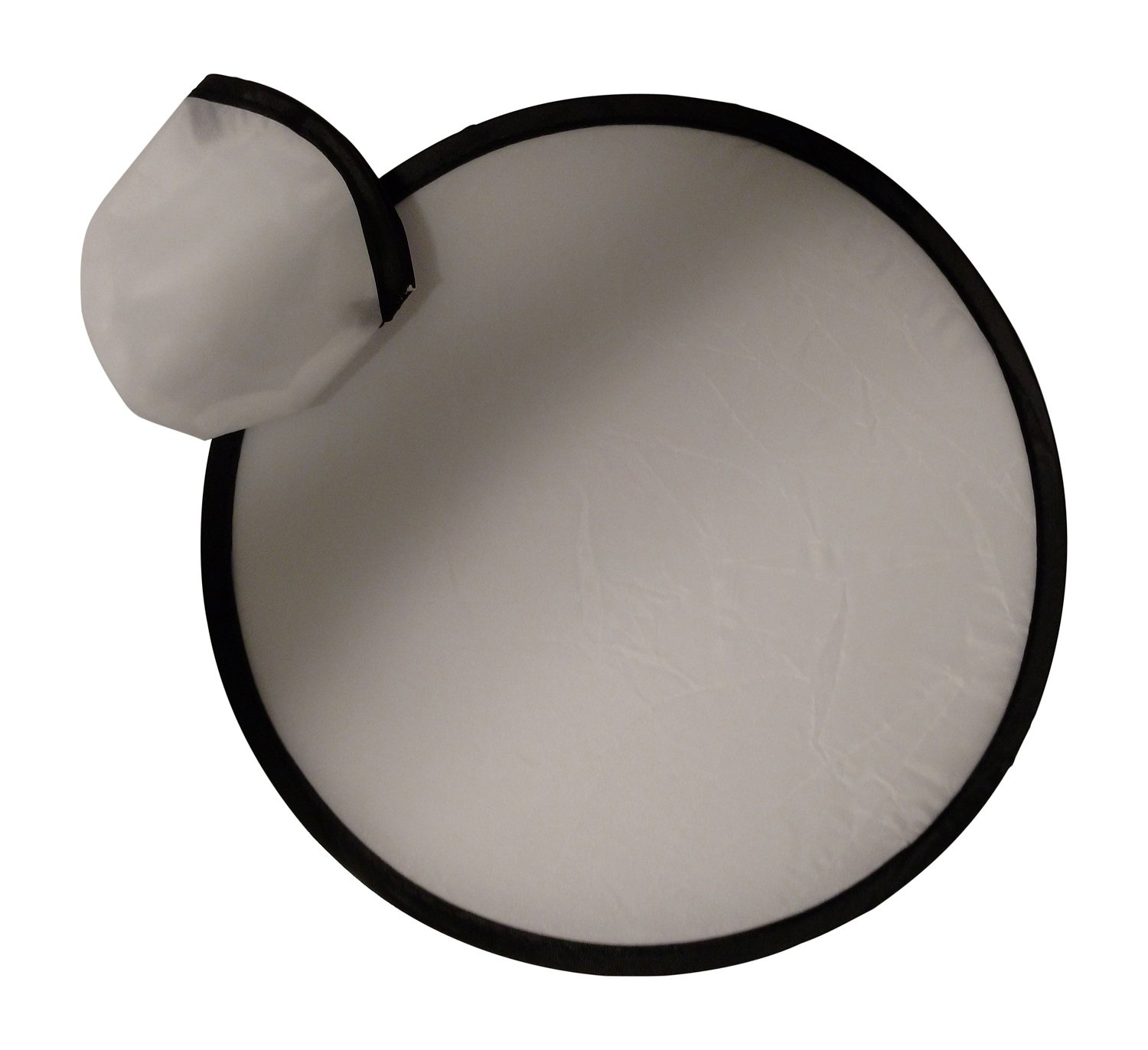 BZANY® White Toy Pocket Fan Flying Disc With Pouch (Pack Of 12) by BZANY