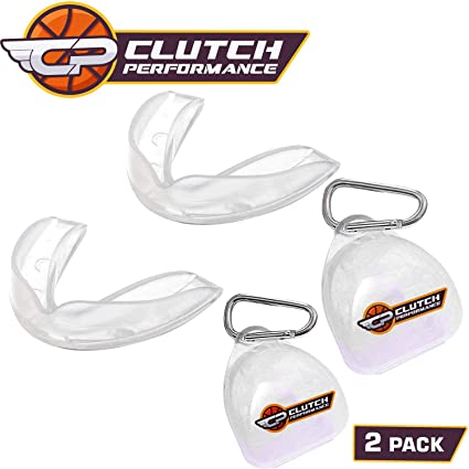 Clutch Performance Mouth Guards for Basketball Football MMA & BJJ – 2 Pack  Mouthguard with Free