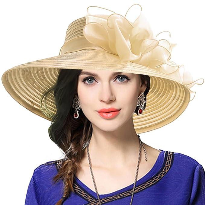 Sombrero elegante estilo Derby para Iglesia, bautismo, bodas, y fiesta.