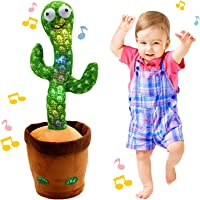 "3Pcs Dancing Cactus Toy, BLUELAND Electric, Shaking, Recording, Singing, Talking toys, ""Repeat your speech"" Plush…"