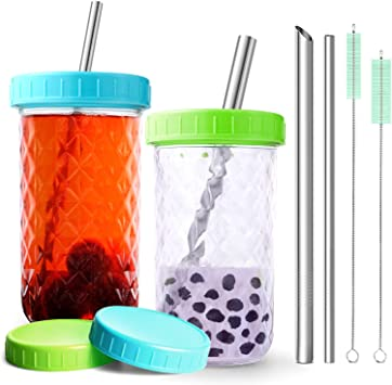 Reusable StrawTransparent Milk Box Plastic Outdoor Bubble Tea Bottle