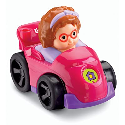 Fisher-Price Little People Wheelies Race Car and Sofie: Toys & Games
