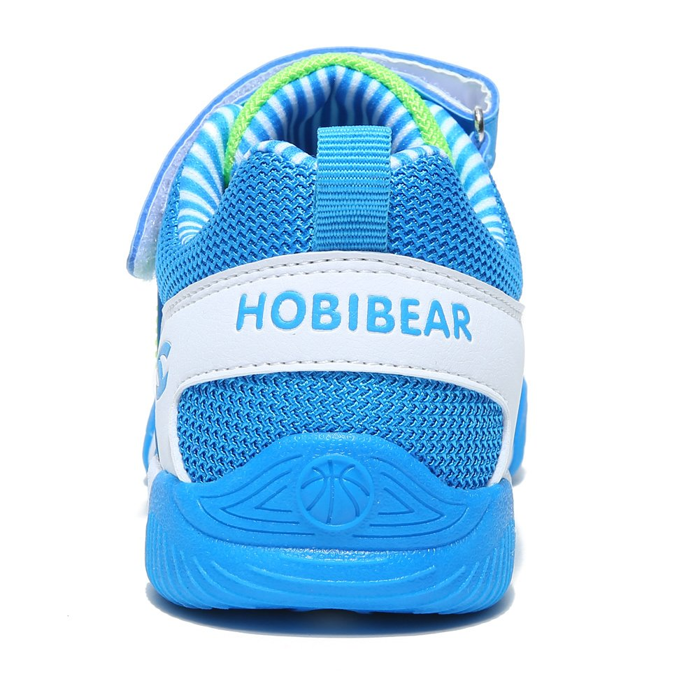HOBIBEAR Kids Sneakers Casual Running Shoes for Boys&Girls AS3336 (Light Blue, 4M) by HOBIBEAR (Image #3)