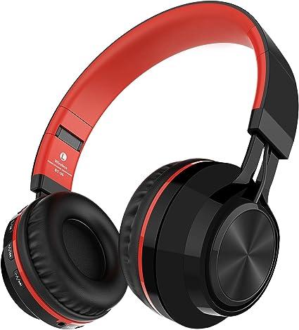 Alihen BT-06 Swift Auriculares Estéreo Inalámbricos con Bluetooth 4.0, Micrófono y Control de Volumen + Cable de Audio. Compatible con la mayoría de Teléfonos / iPhone / Samsung / PC / Tv / Laptop (Rojo): Amazon.es: Electrónica