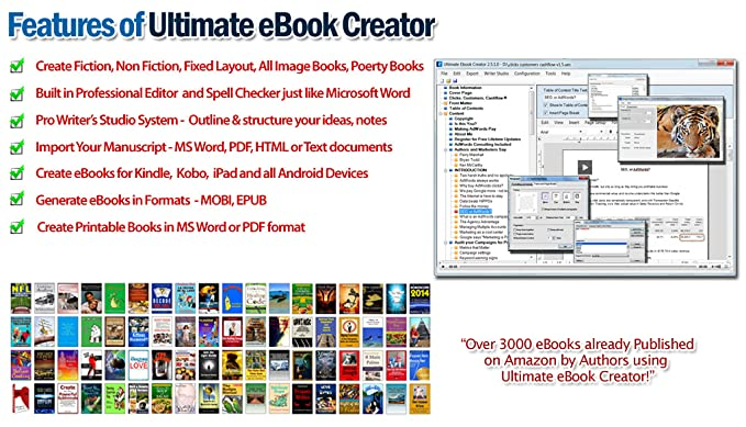 Ultimate eBook Creator: eBook Creation Software Kindle, iPad and Android  Devices [Download]