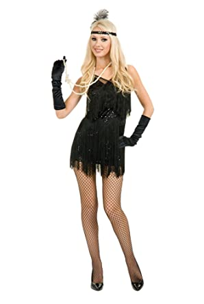 Adult Sexy Chicago Black Flapper Costume
