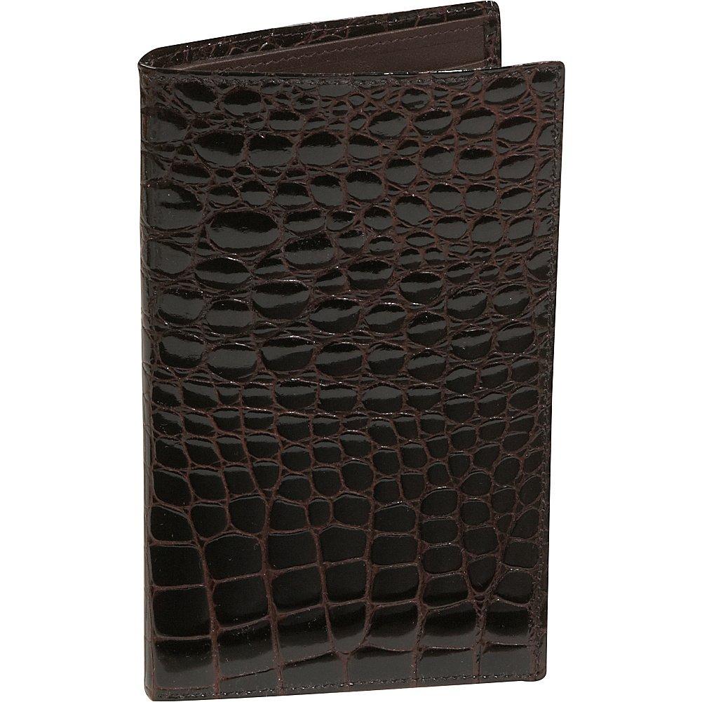 Black Crocodile Bidente Large Credit Card Secretary US301