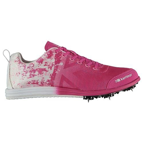 Karrimor Niños Spikes 4 Zapatillas De Running con Tacos Blanco/Rosa 36: Amazon.es: Zapatos y complementos
