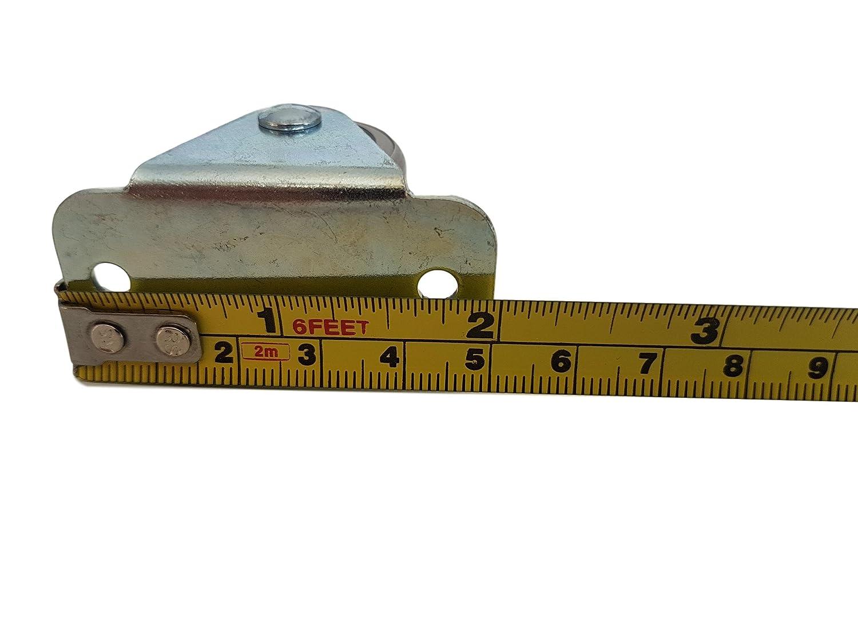 30/mm ruota in gomma plastica girevole doppia ruote con piastra in metallo mobili apparecchio /& Equipment Small mini ruote set