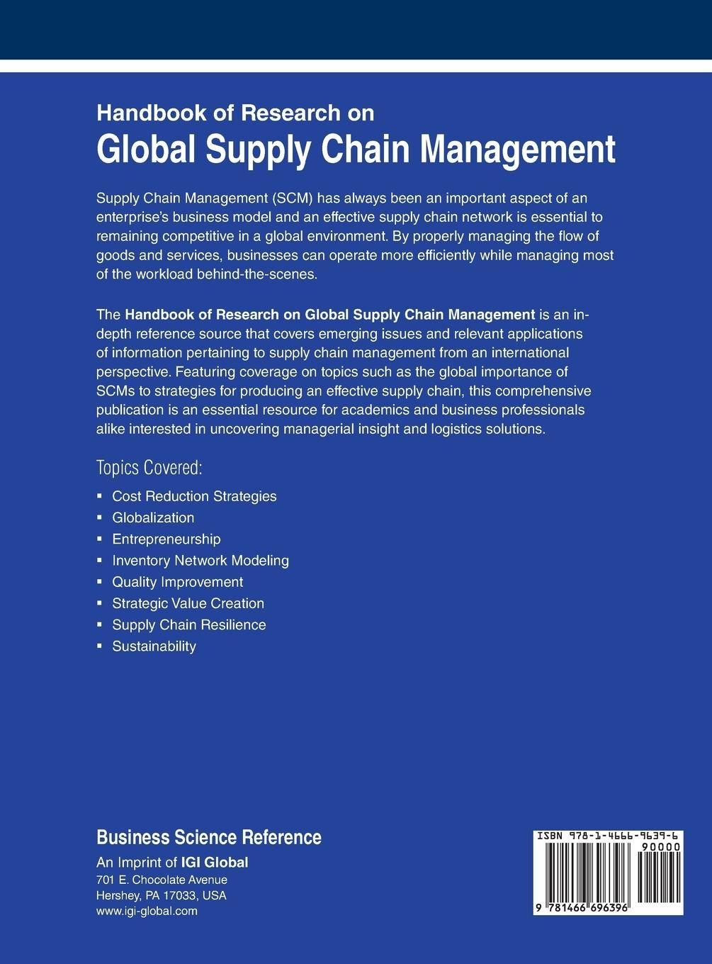 supply chain management research topics
