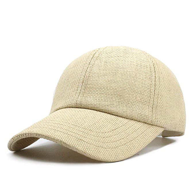 b123a5e01 Rzxkad New Spring and Summer Straw Baseball Cap hat Fashion Travel ...