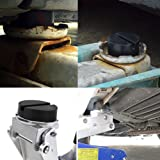 FidgetFidget Hydraulic Floor Jack Disk 3X Black DIY Car SUV Slotted Frame Rail Rubber Pad M