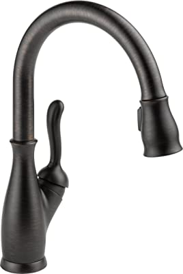 Delta Faucet 9178-RB-DST Leland Single Handle Pull-Down Kitchen Faucet with Magnetic Docking, Venetian Bronze