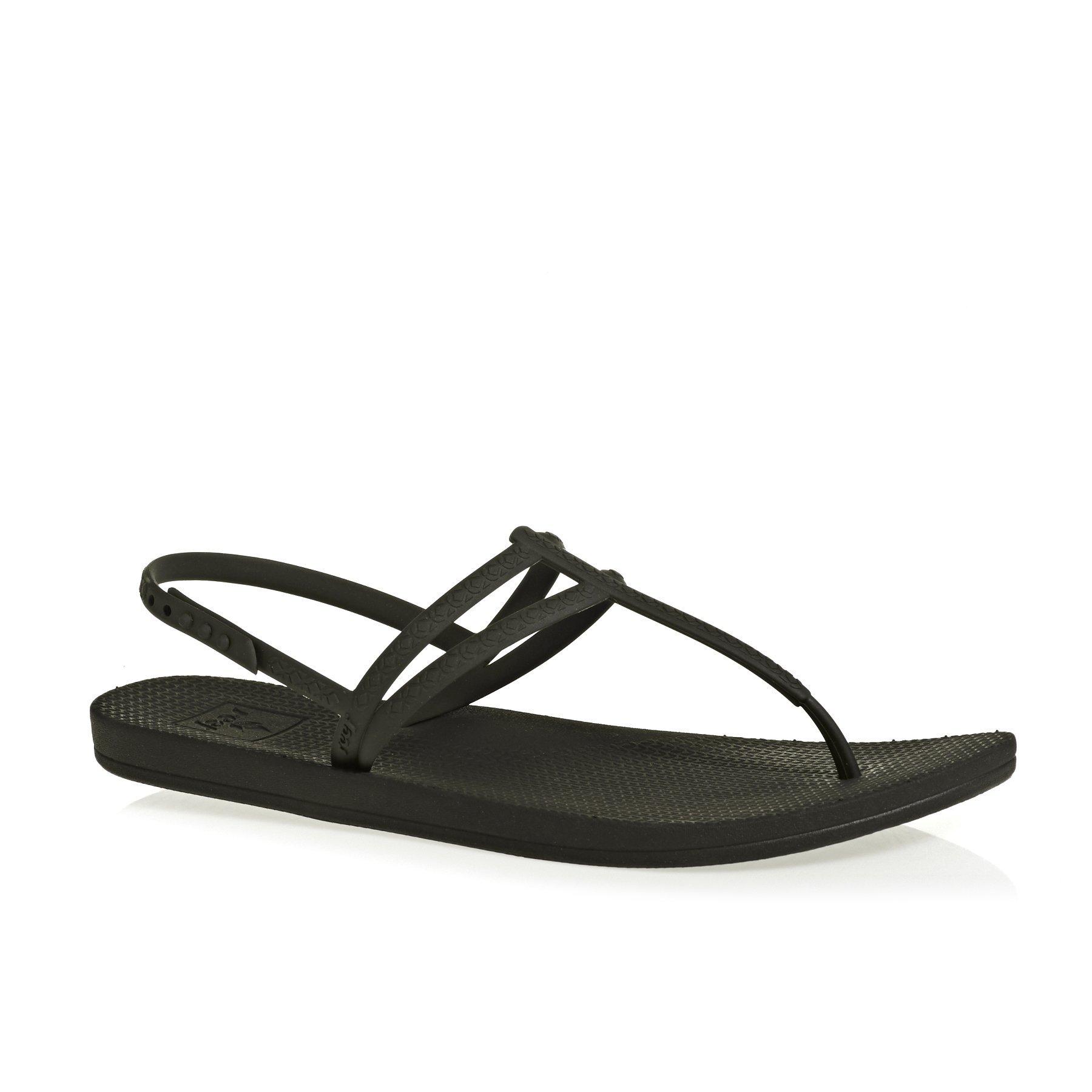 Reef Women's Escape Lux T Sandals, Black, 8 M