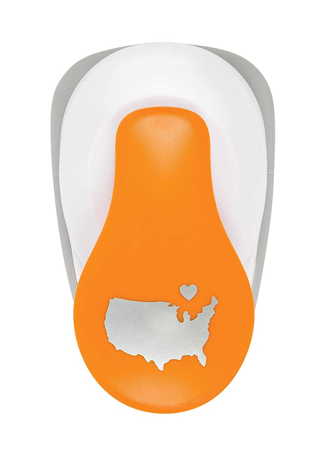 Fiskars Crafts Squeeze FiskarsLever Punch XXL, United States with Heart,