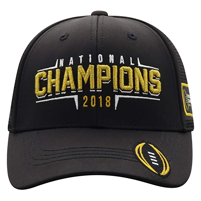 6a05bbb8 Top of the World Clemson Tigers 2018-2019 Football National Champions Black  Mesh Adj. Hat Cap at Amazon Men's Clothing store:
