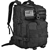 NOOLA 40L Military Tactical Army Backpack 3 Day Pack Molle Bug Out Bag Backpack Rucksacks for Outdoor Hiking Camping Trekking Hunting with Flag Patch