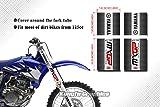Kungfu Graphics Showa Upper Mid Fork Tube Decal Kit (Pack of 4), Black