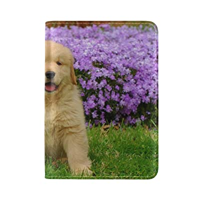 Golden Retriever Summer Pet Animal Friend Outdoors Leather Passport Holder Cover Case Travel One Pocket