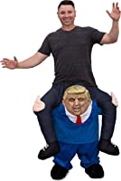 Seeing Red Trump Ride Along Piggyback President Presidential Funny Costume