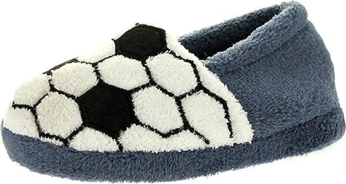 568ce14b645 Static boys all star sports football basketball baseball soccer slippers  grey soccer jpg 500x266 Soccer slippers