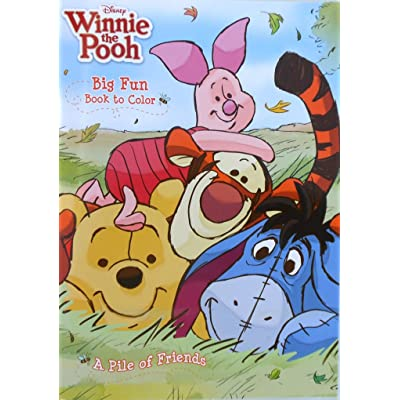 "Disney Winnie the Pooh ""A Pile of Friends"" Coloring Book: Toys & Games"