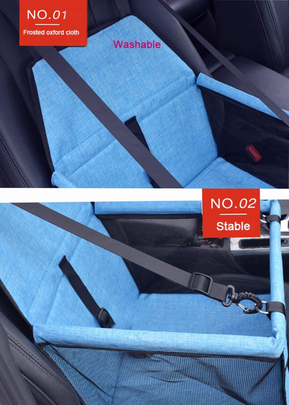 GUOYI Neu Wasserdicht Atmungsaktiv Haustier-Auto-Matte Sicherheit Haustier Auto Booster Waschbar Tragetasche f/ür Haustiere