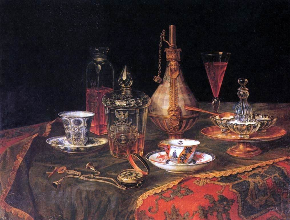 Art Oyster Christian Berentz Still-Life - 21.1'' x 28.1'' 100% Hand Painted Oil Painting Reproduction by Art Oyster