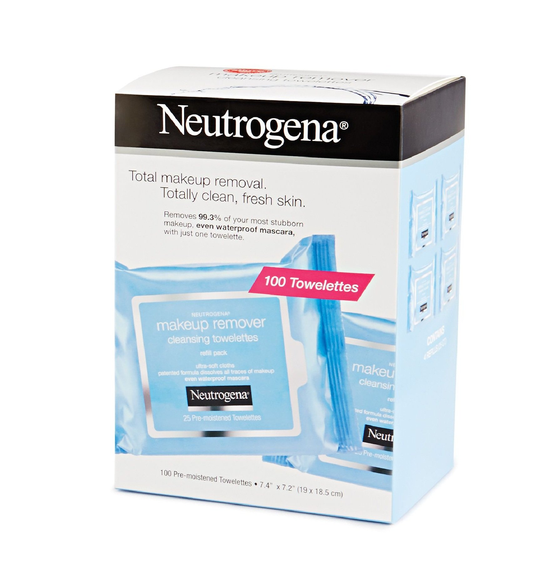 Neutrogena Make Up Removing Wipes, 100 Cleansing Towelettes product image