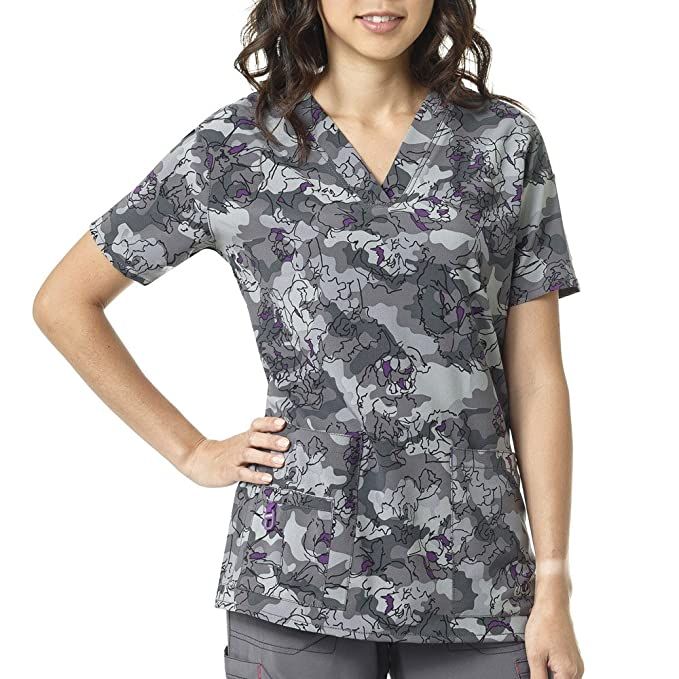 popular stores reliable quality 50% price Carhartt Cross-Flex Women's Print Media Scrub Top