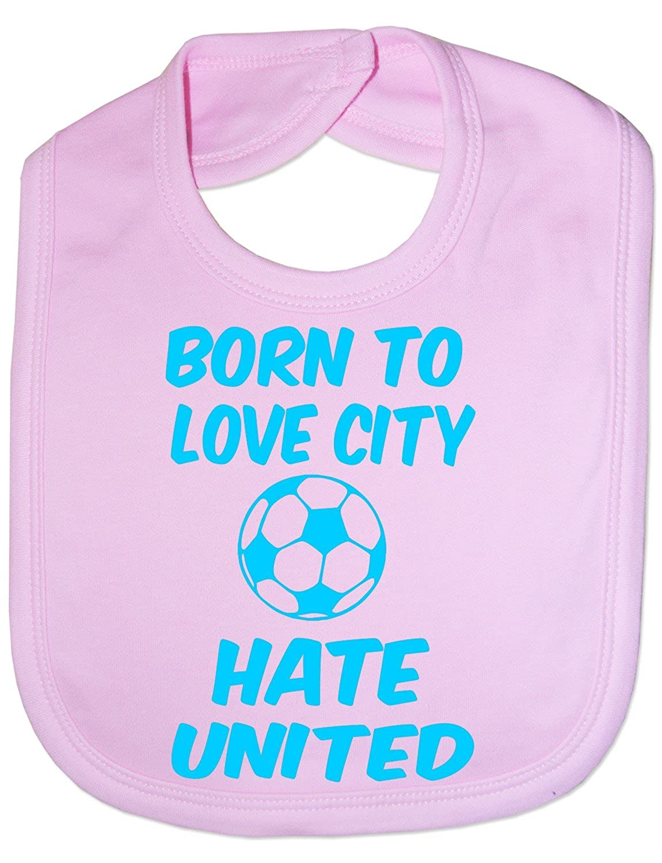 Print4U Unisex Babys Love Man City Hate Man Utd Baby Bib