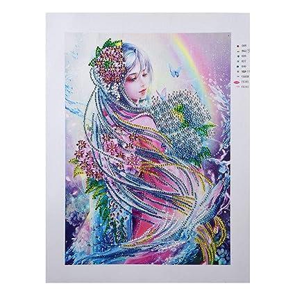 Bordado de pintura de diamantes 5D Kit Punto De Cruz Manualidades Casa de Arte para Decoración de pared Hazlo tú mismo