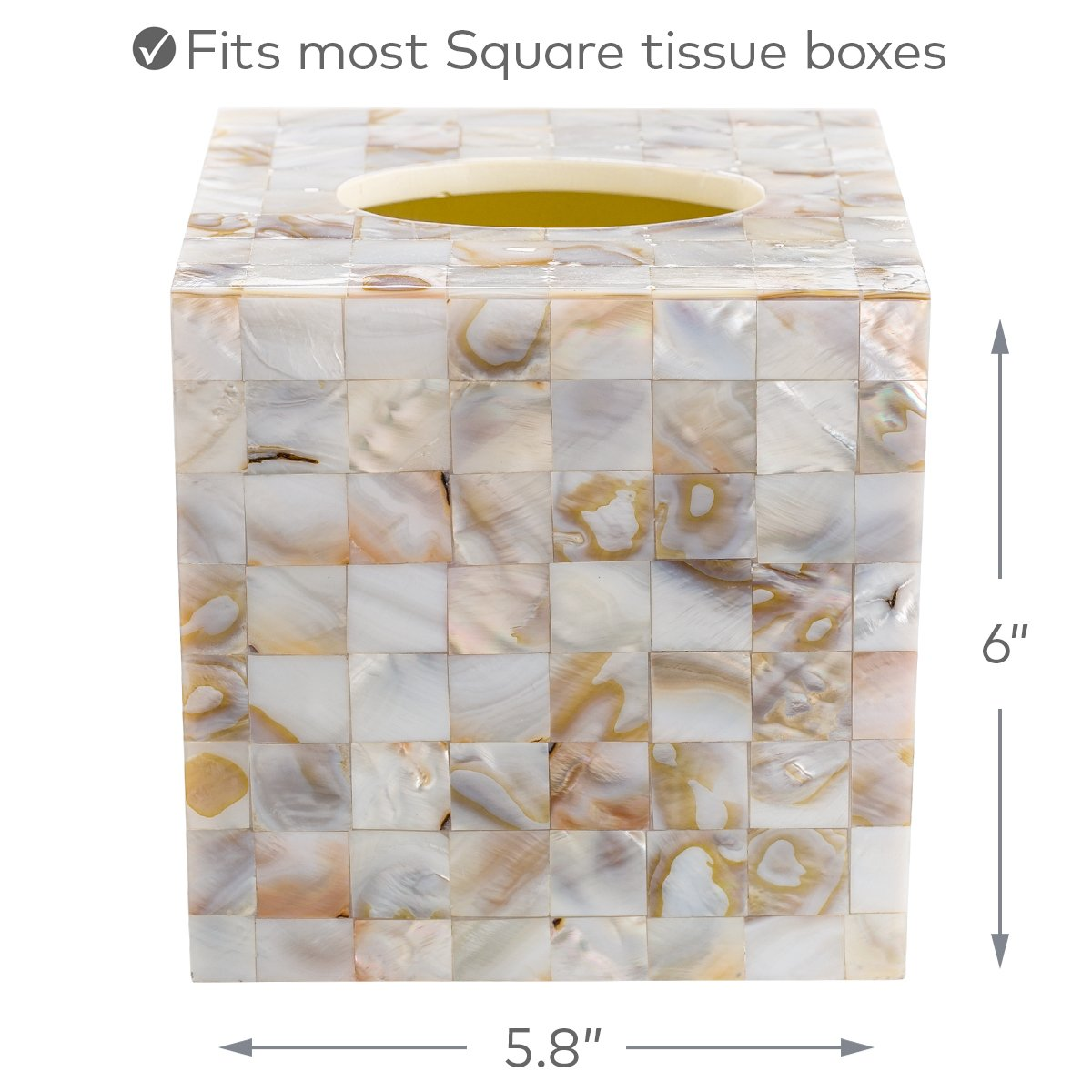 Amazon creative scents square tissue holder decorative amazon creative scents square tissue holder decorative tissue box cover is finished in beautiful mother of pearl milano collection home kitchen magicingreecefo Image collections