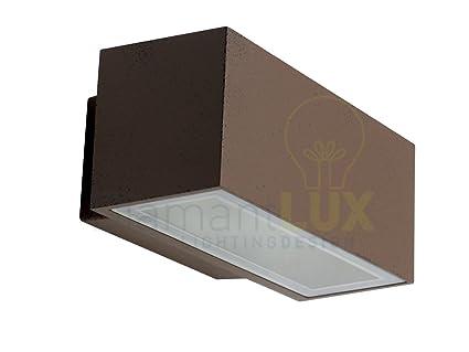 Taormina 3520r applique per esterno rettangolare marrone rustico