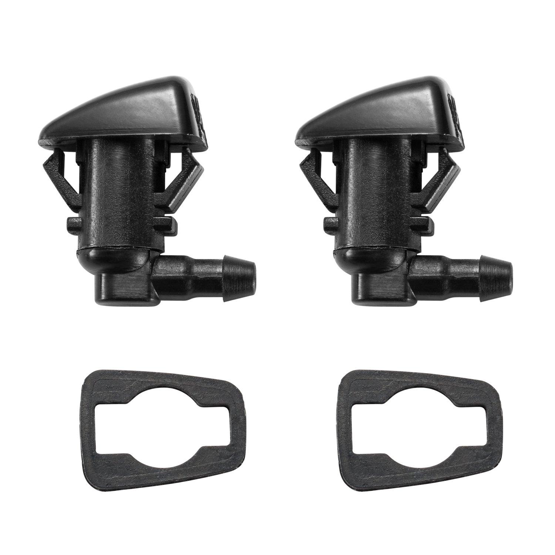 2 Front Windshield Washer Nozzle Kit fit for 2011-2015 Ford F250 F350 F450 F550 Super Duty, Replacement for BC3Z-17603-A BC3Z17603A Katijaze Katijaze-BC3Z