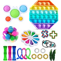 Fidget Toy Packs Cheap Fidget Box with Simples Dimples Pop Bubble DNA Stress Relive Balls for Kids Adults ADHD ADD…