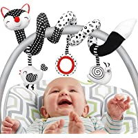 Car Seat Toys Stroller Toys, Newborn Toys Black and White Baby Toys Stretch & Spiral Activity Toy, Infant Toys High…