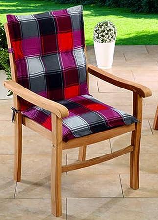 Schwar Textilien - Cojines para sillas de jardín con Respaldo bajo ...