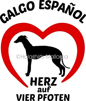 Holashirts Mallorca Galgo Espanol Windhund Hunde Auto