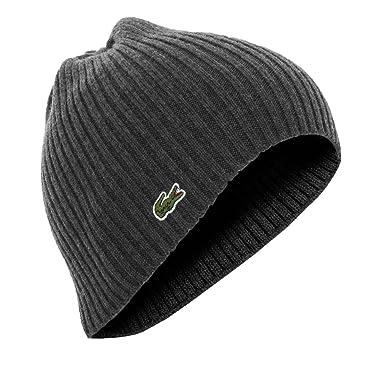 4e9eba1df5 Taille Unique bonnets lacoste rb3504 gris ...