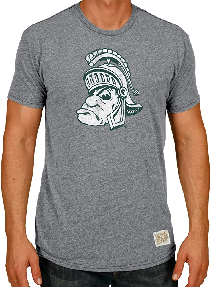 Elite Fan Shop NCAA Mens Tri Blend T Shirt Gray Retro